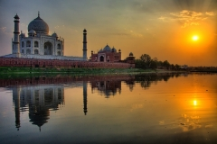 Sunset on the Taj